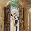 vine yard wedding couple in italy