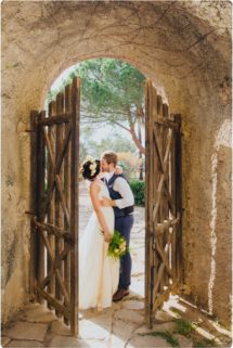 vine yard wedding couple in italy
