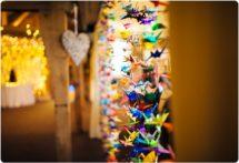 origami wedding cranes