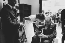 grandfather bride moment