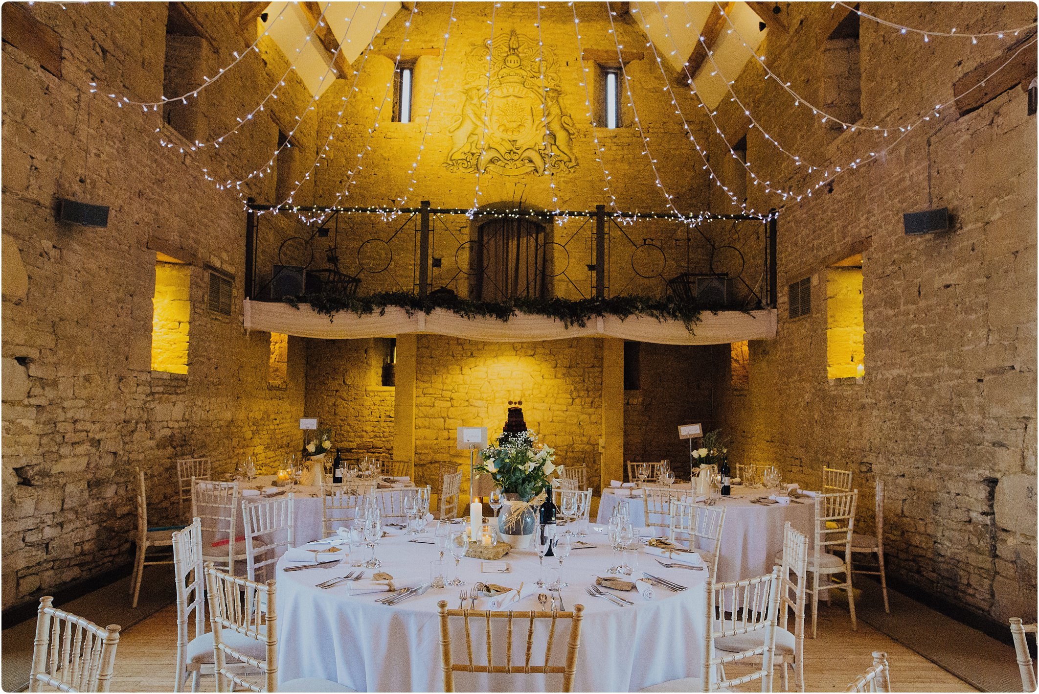 Great tythe barn dressed wedding room