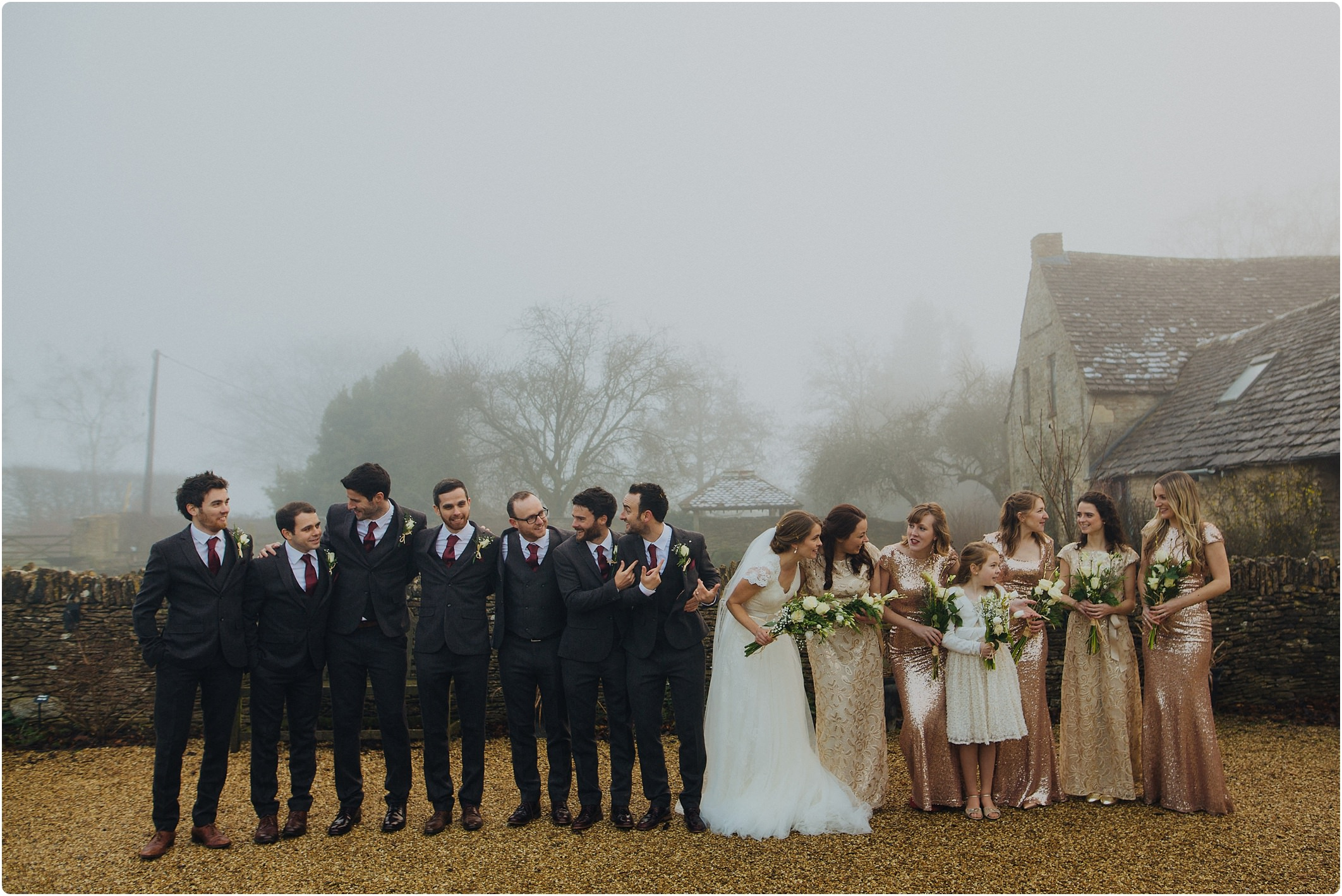 bridal party great tythe barn