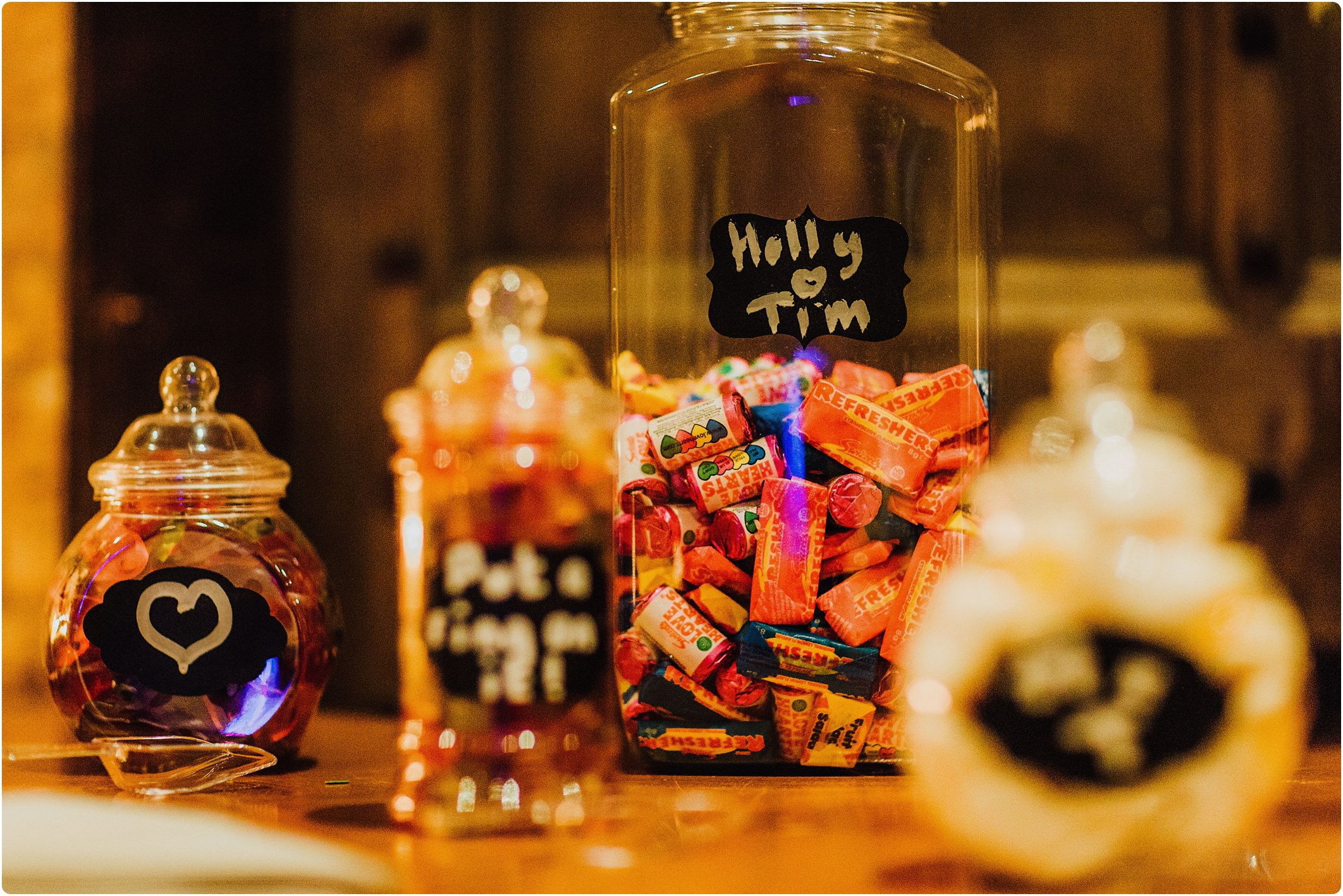 sweet wedding jar idea