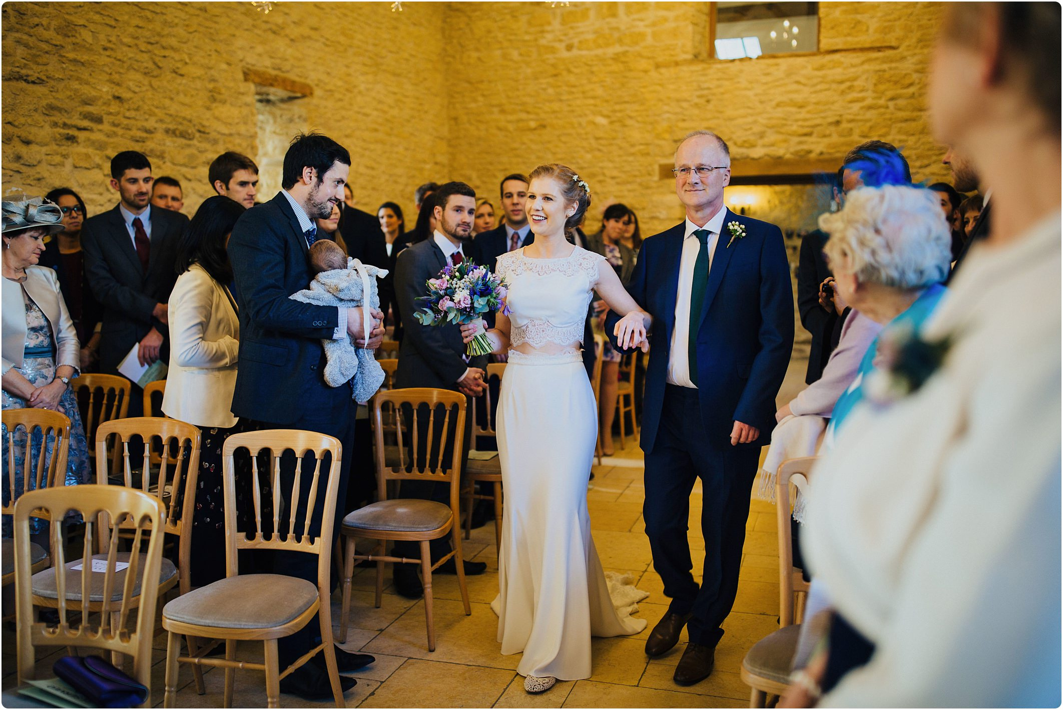 kingscote barn indoor ceremony