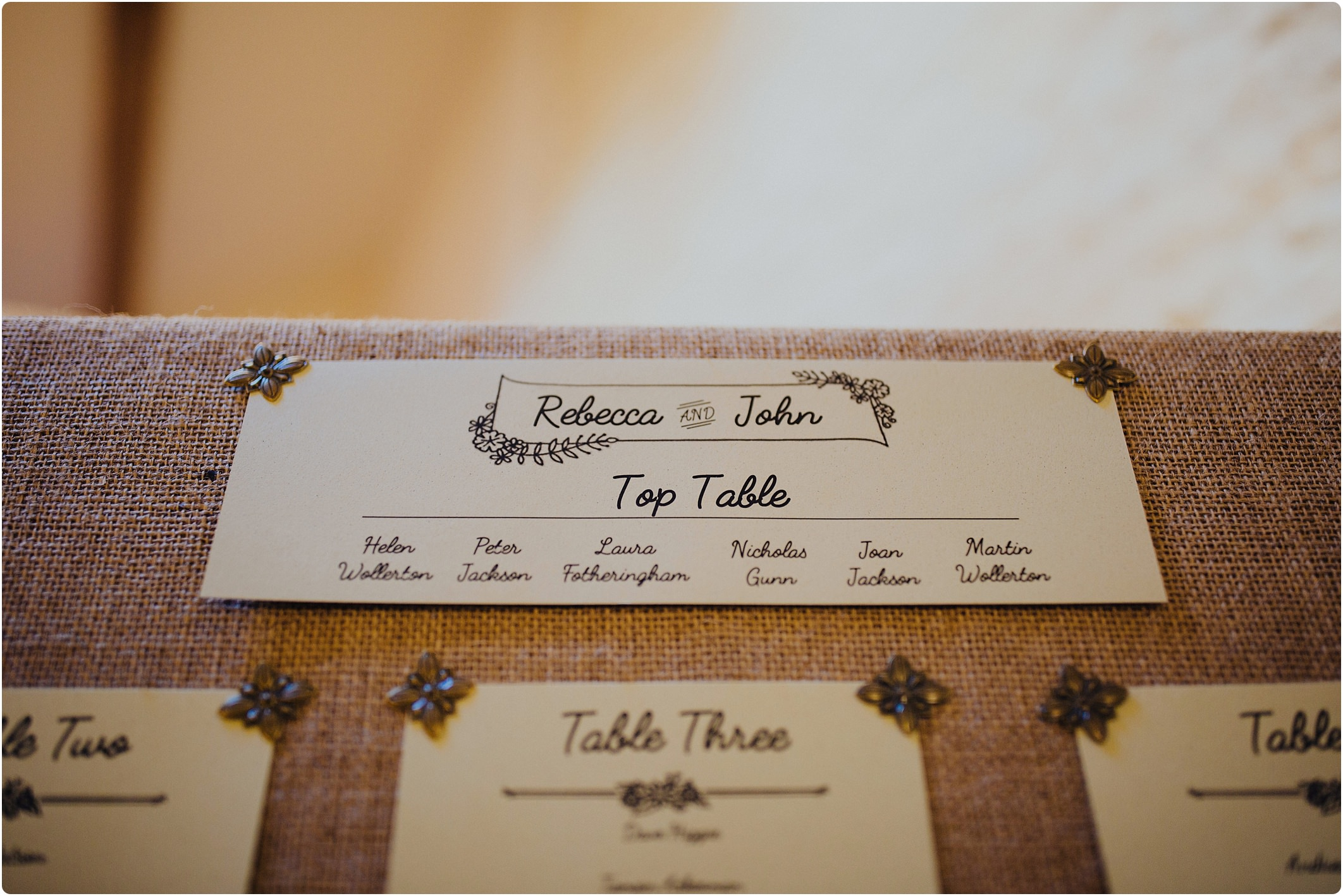 wedding table plan idea