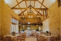 kingscote barn wedding set up