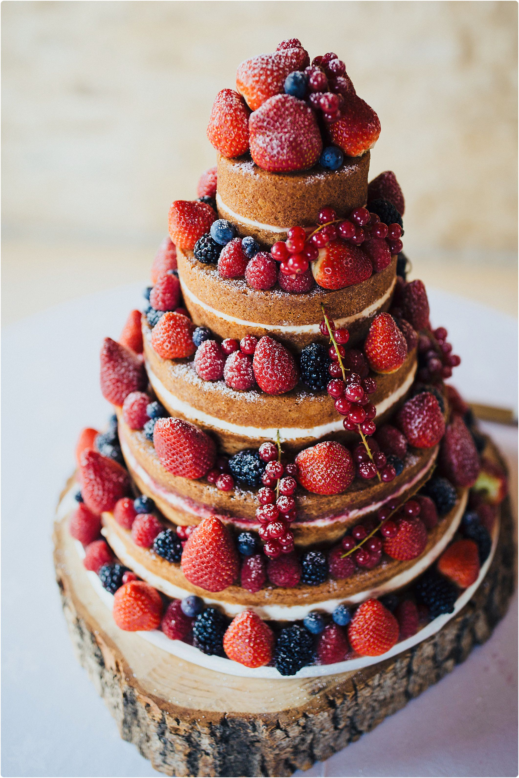 naked wedding cake, lemon and victoria sponge
