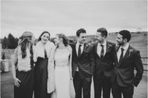 bridal party shoot at kingscote