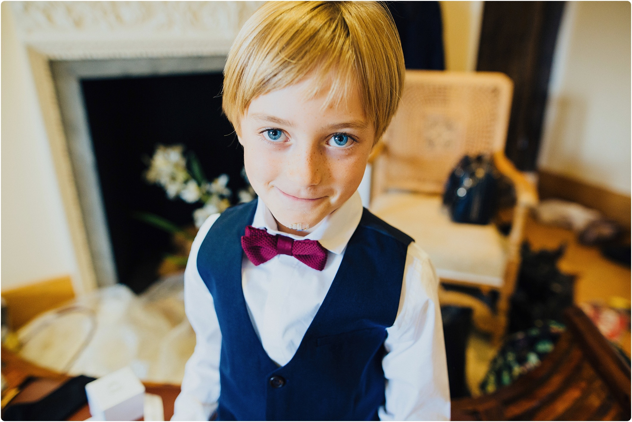notley abbey wedding page boy