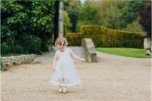 notley abbey wedding flower girl