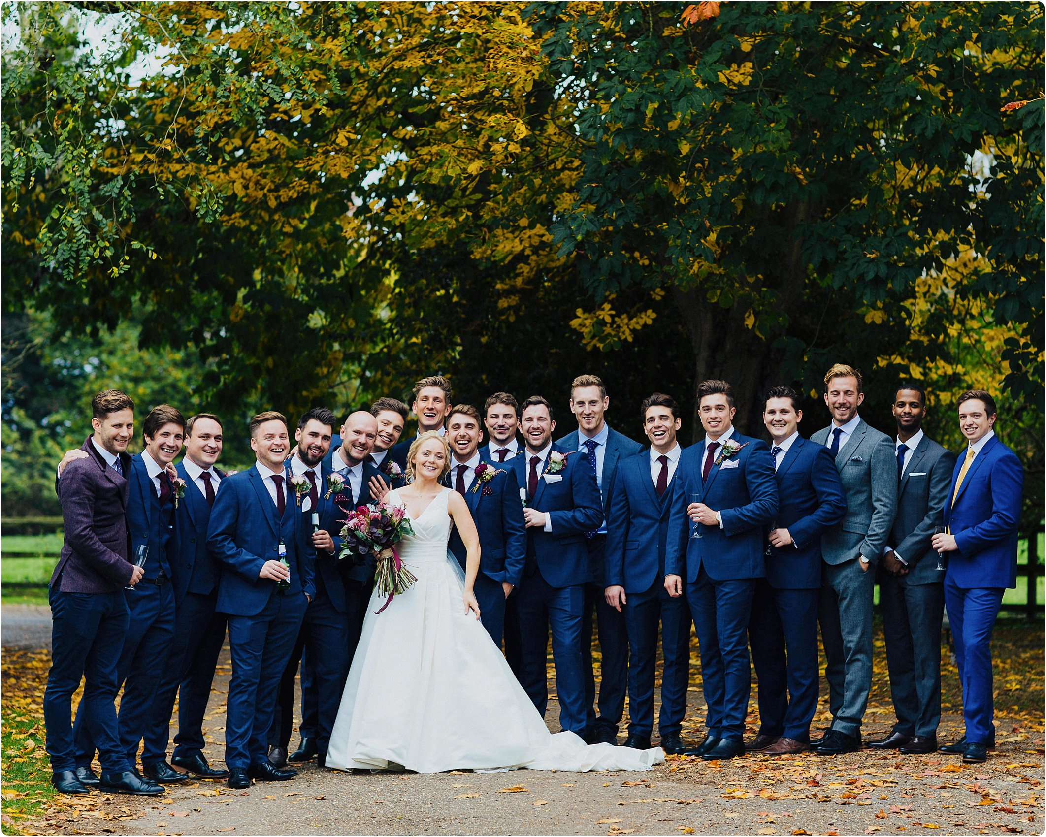 notley abbey wedding boys groups shot