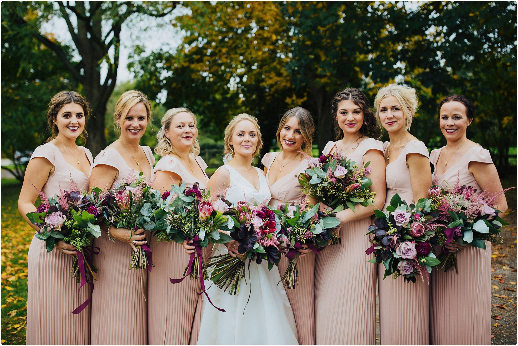notley abbey wedding bridesmaids