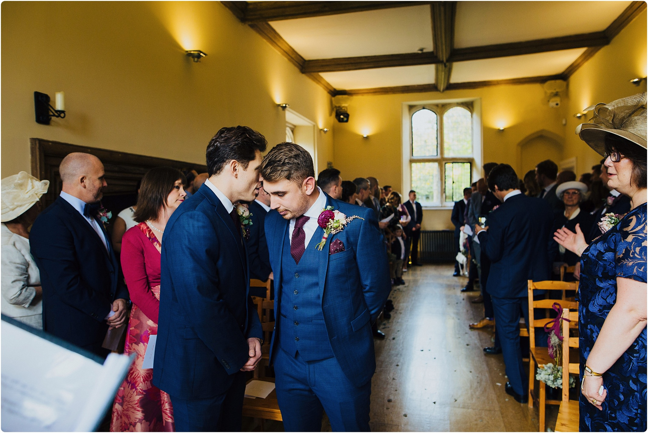 notley abbey indoor wedding ceremony