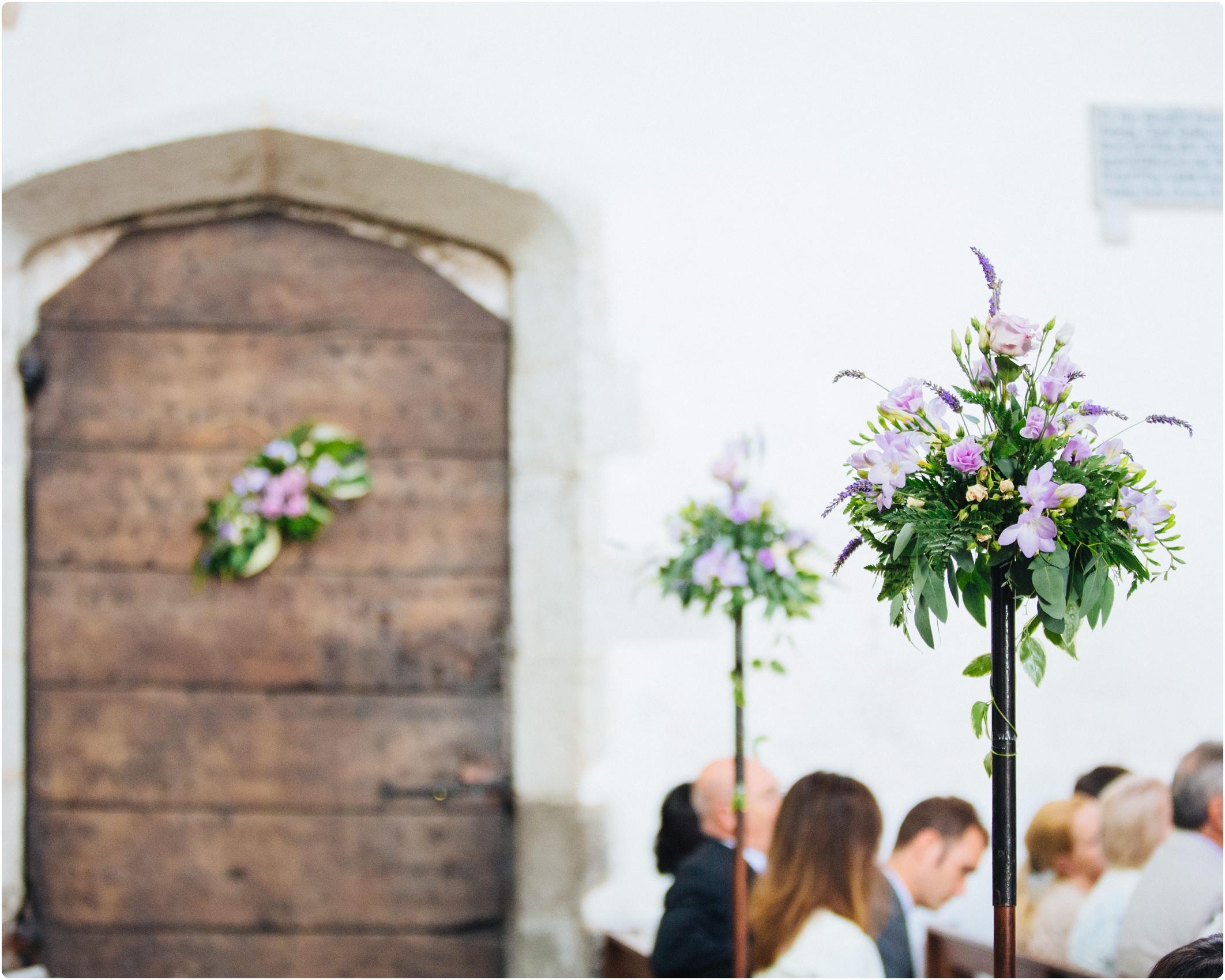 rustic church flowers