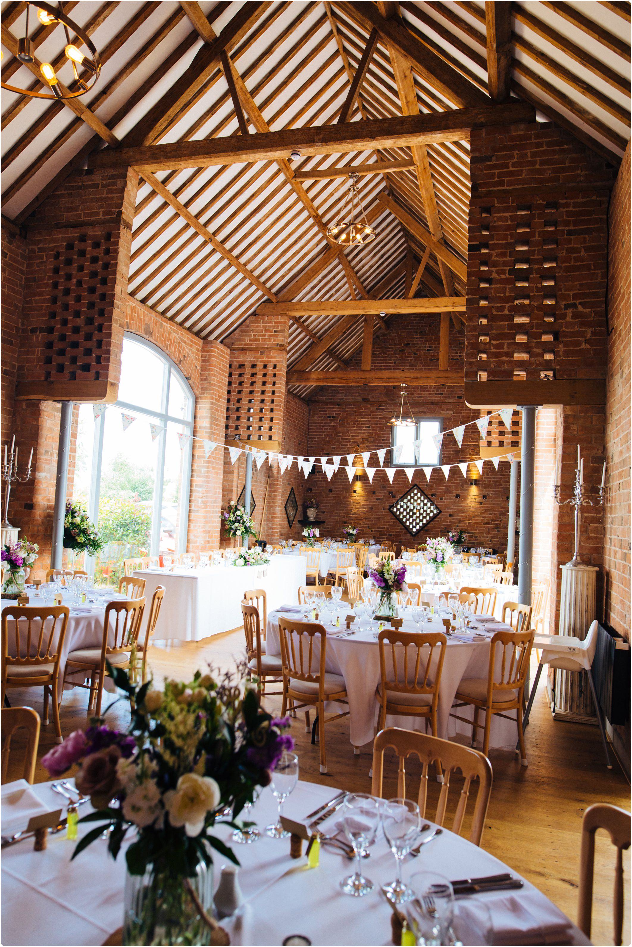 Swallows Nest Barn wedding table set up