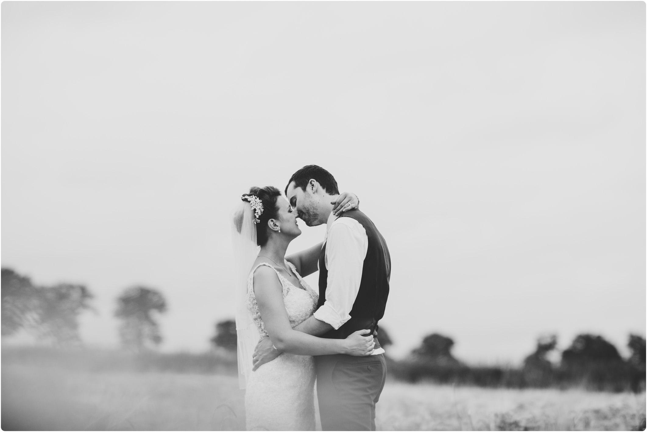 Swallows Nest Barn couple shoot in fields