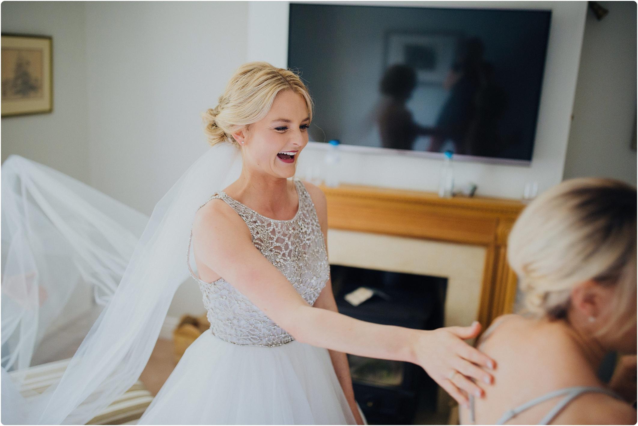 brides friend getting emosh