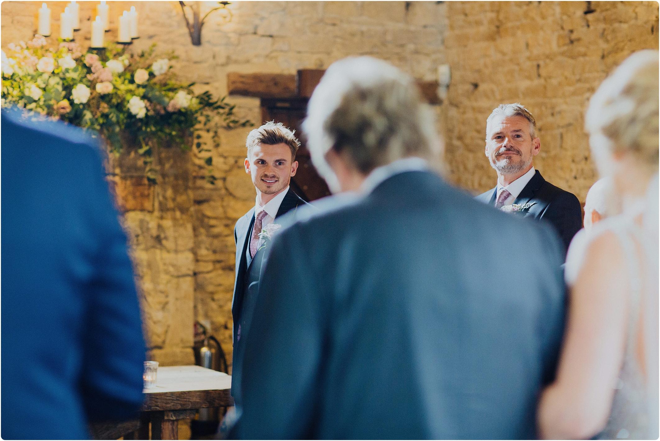 Cripps Barn groom seeing bride