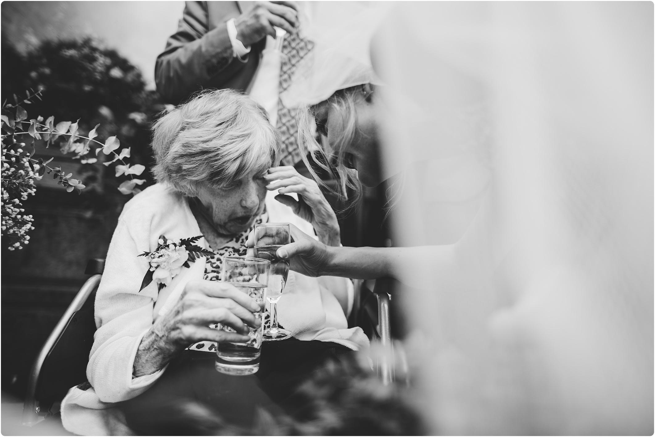 Cripps Barn grandma seeing bride