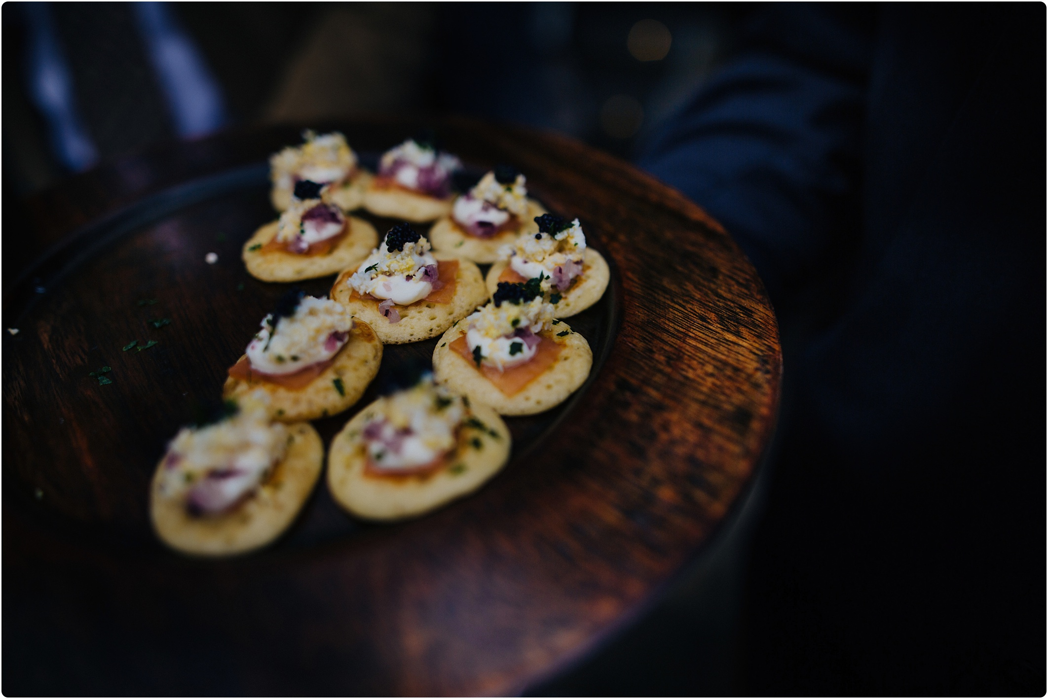 Cripps Barn wedding canapes