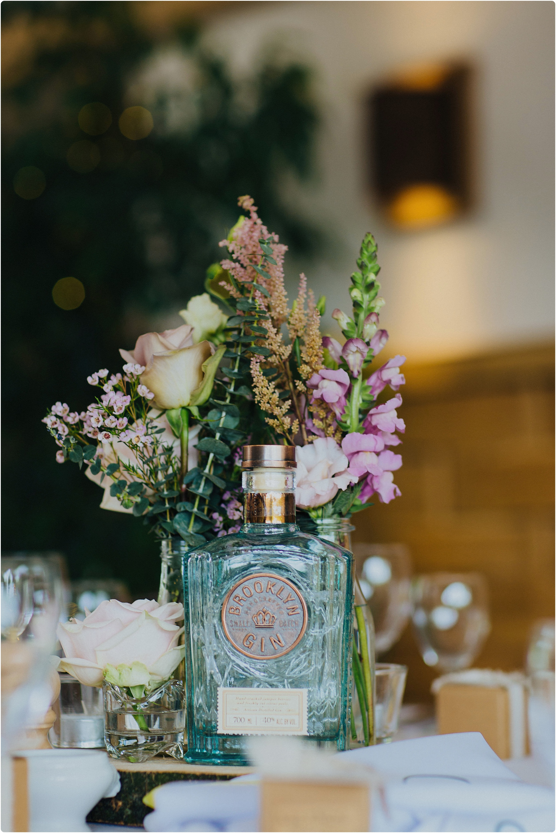 gin themed wedding centre