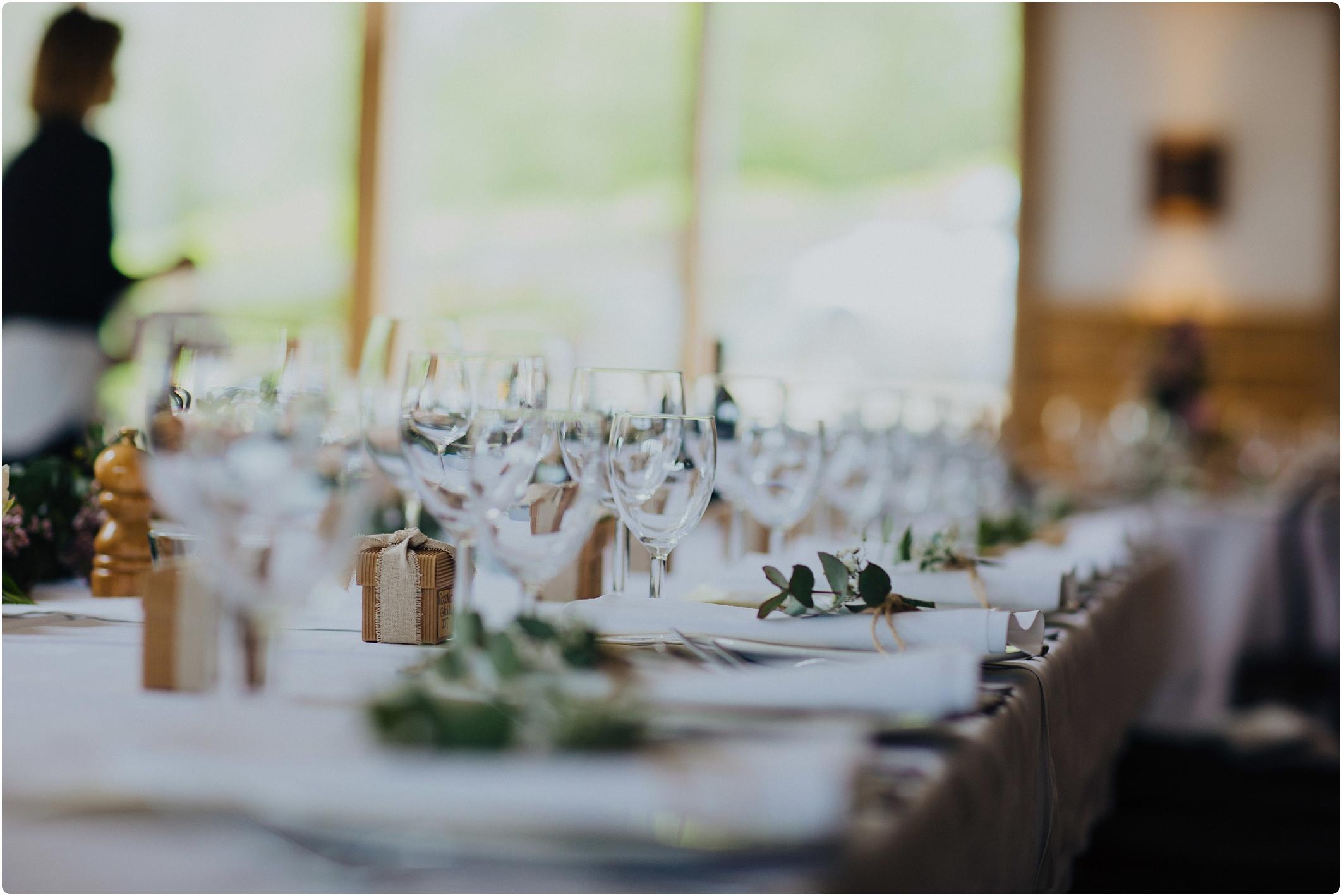 Cripps Barn wedding table set up