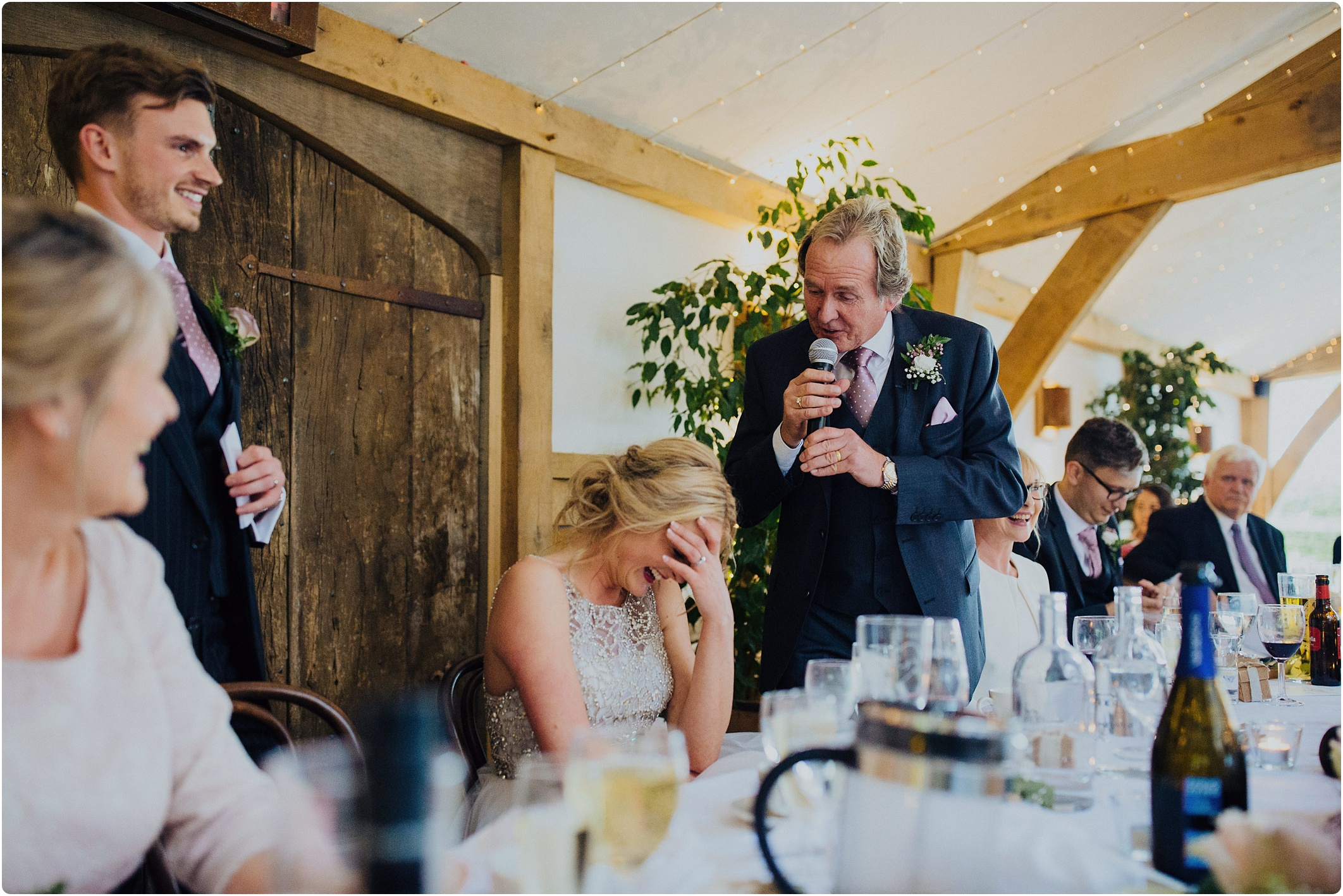 Cripps Barn wedding speeches