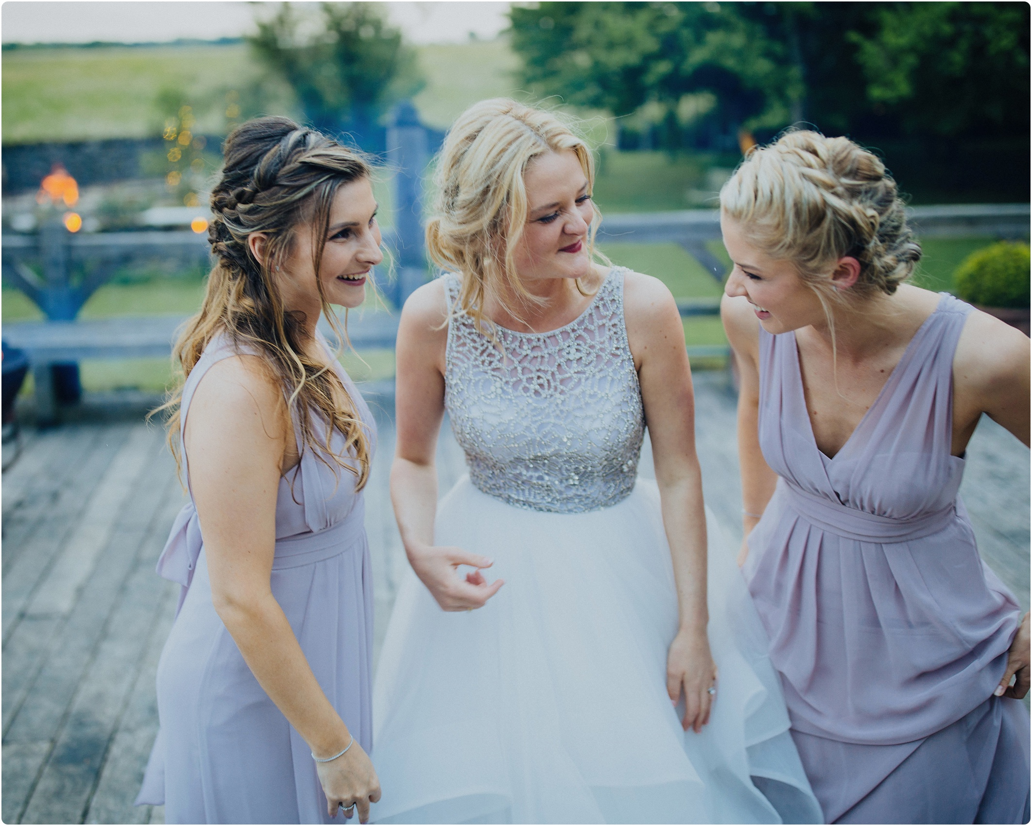 Cripps Barn bride and bridesmaids