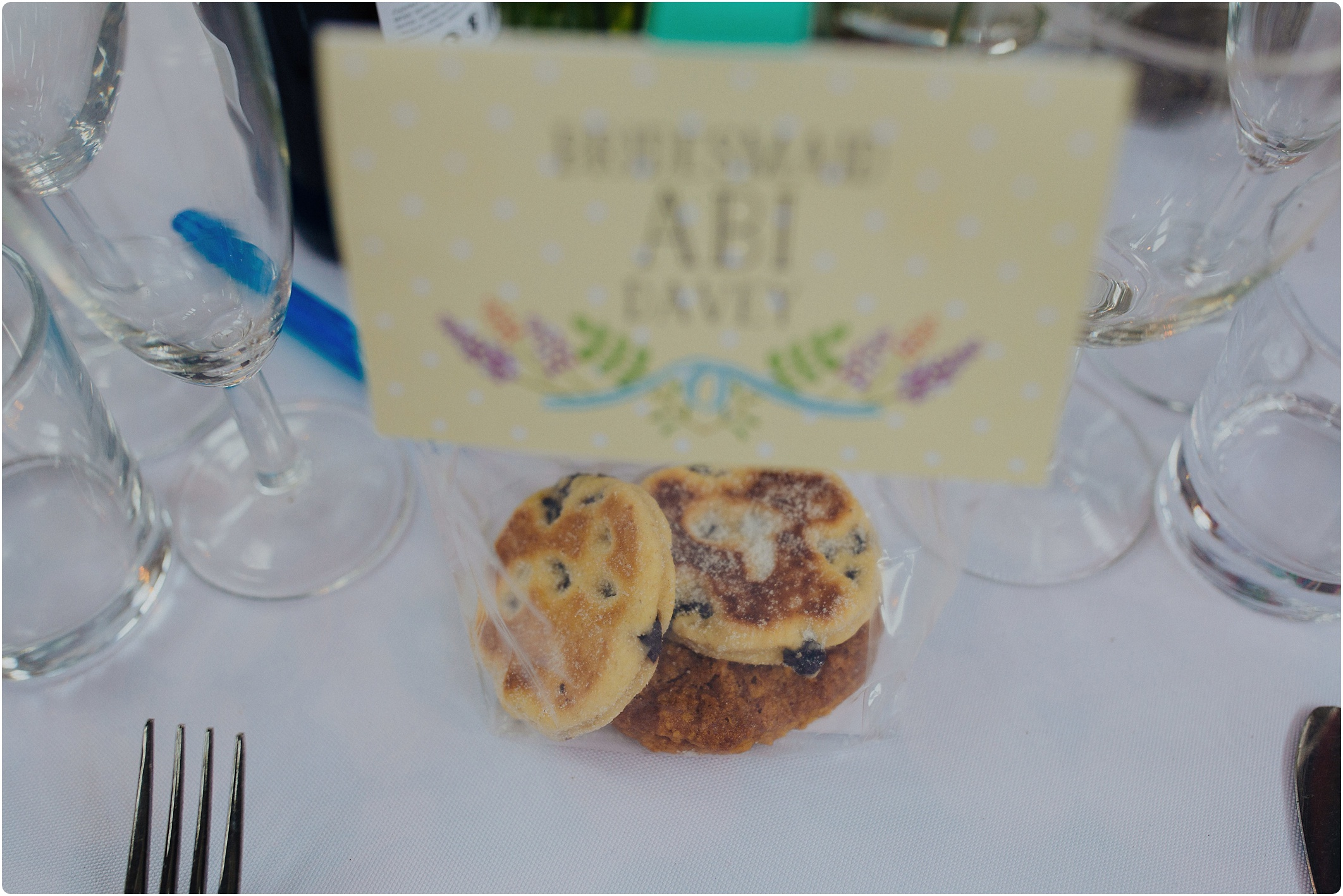 Treadam Barn Wedding welsh cake favours