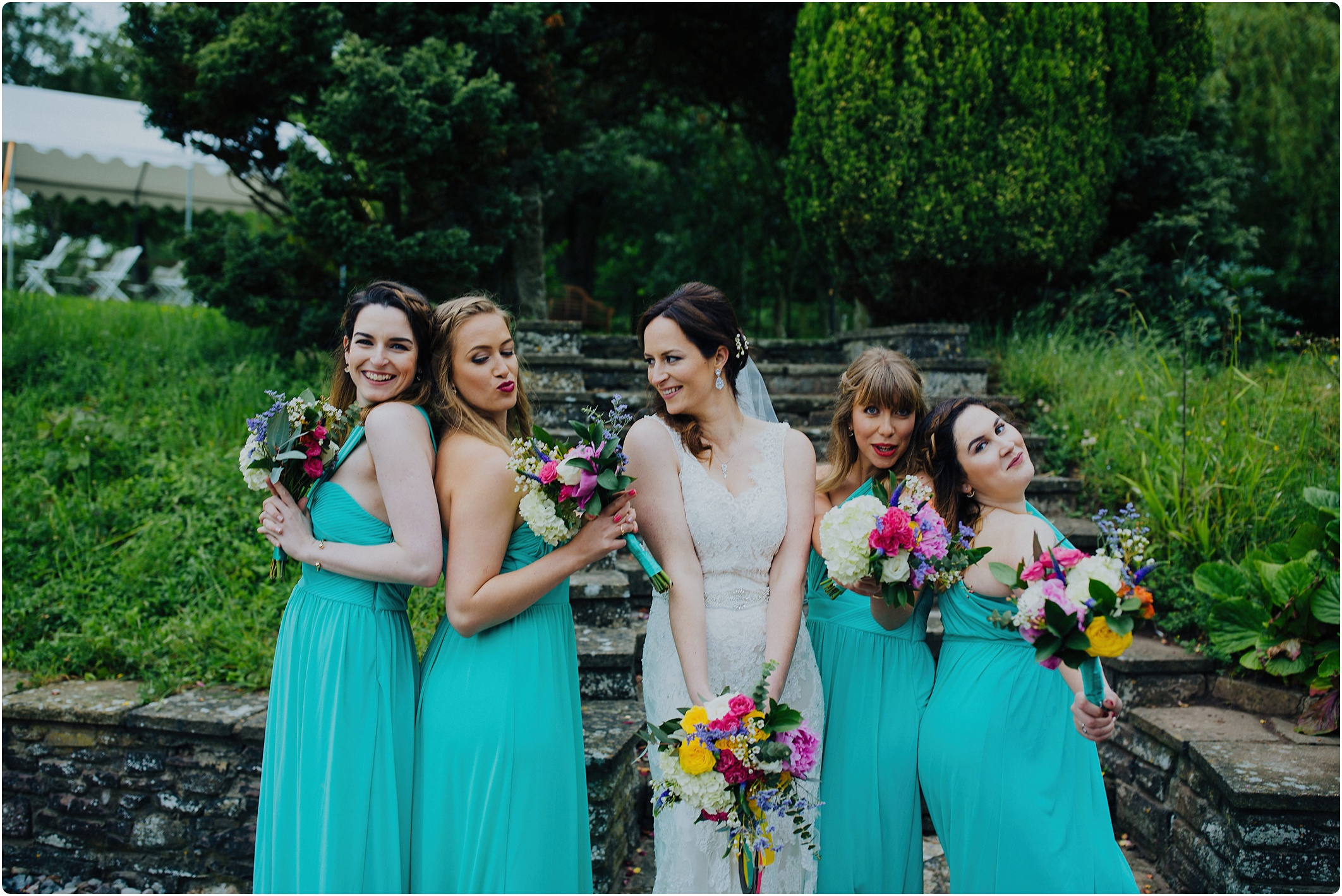 Treadam Barn Wedding bridesmaids