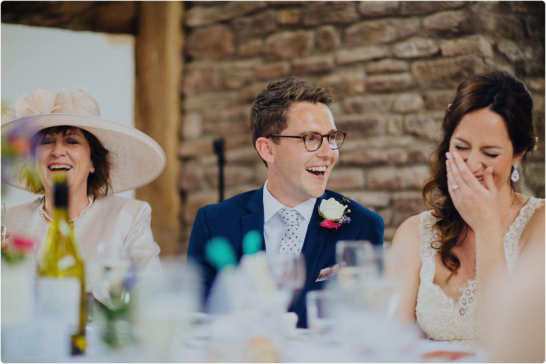 Treadam Barn Wedding speeches
