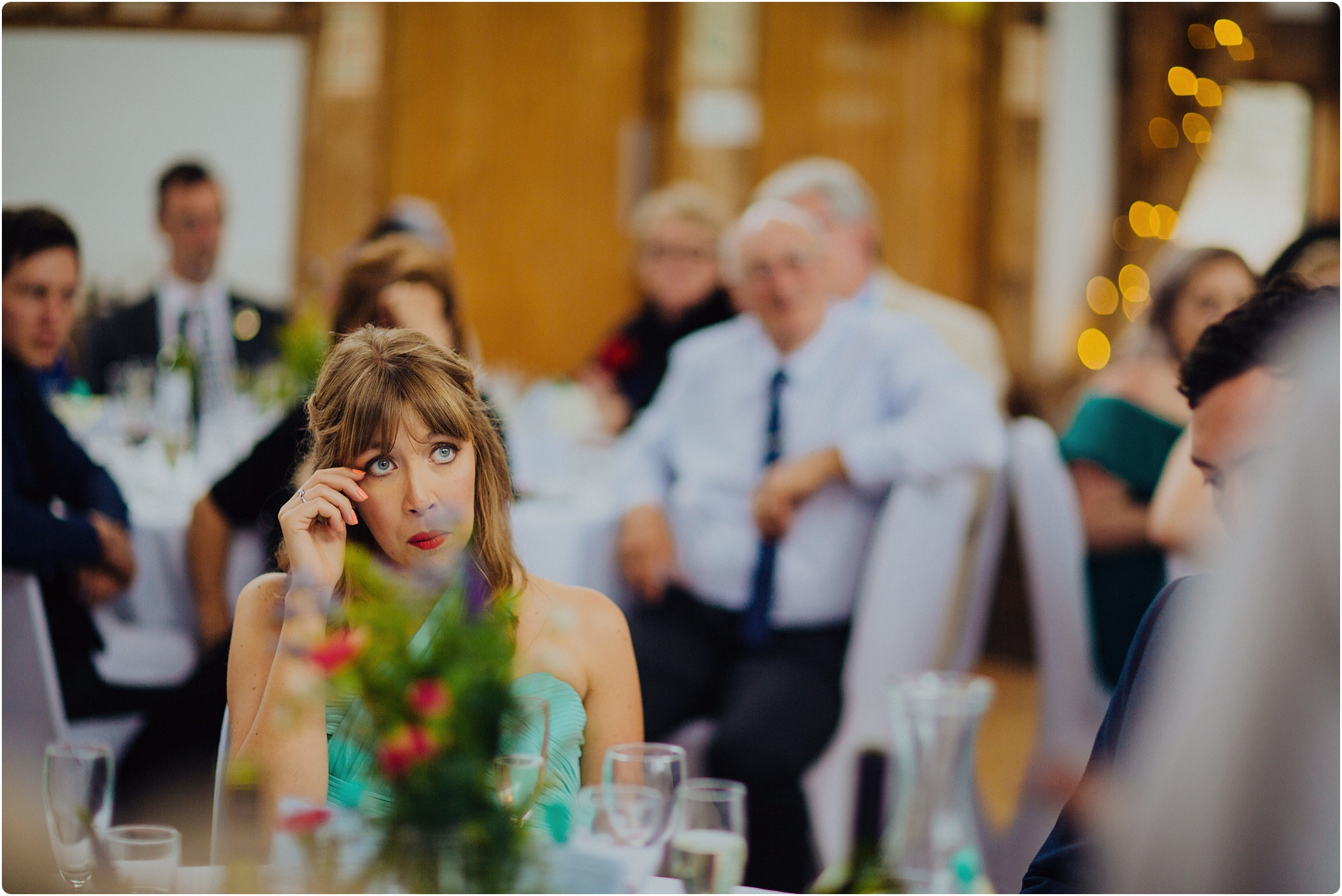 Treadam Barn Wedding emotional bridesmaid