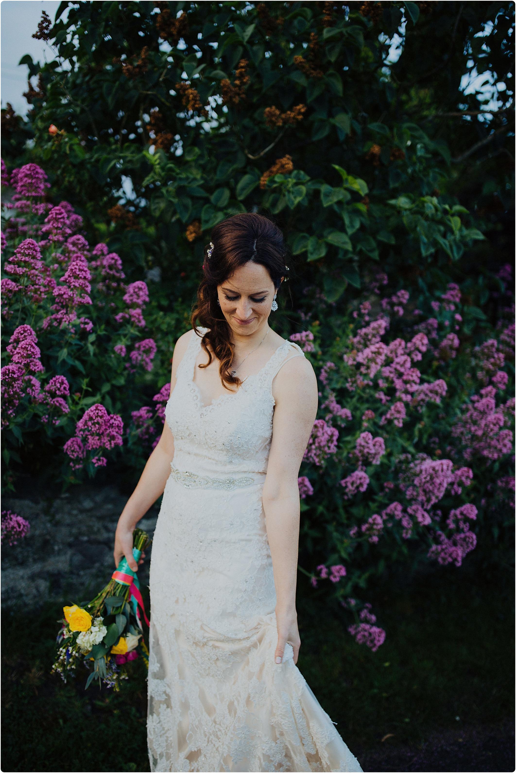 Treadam Barn Wedding rhododendron