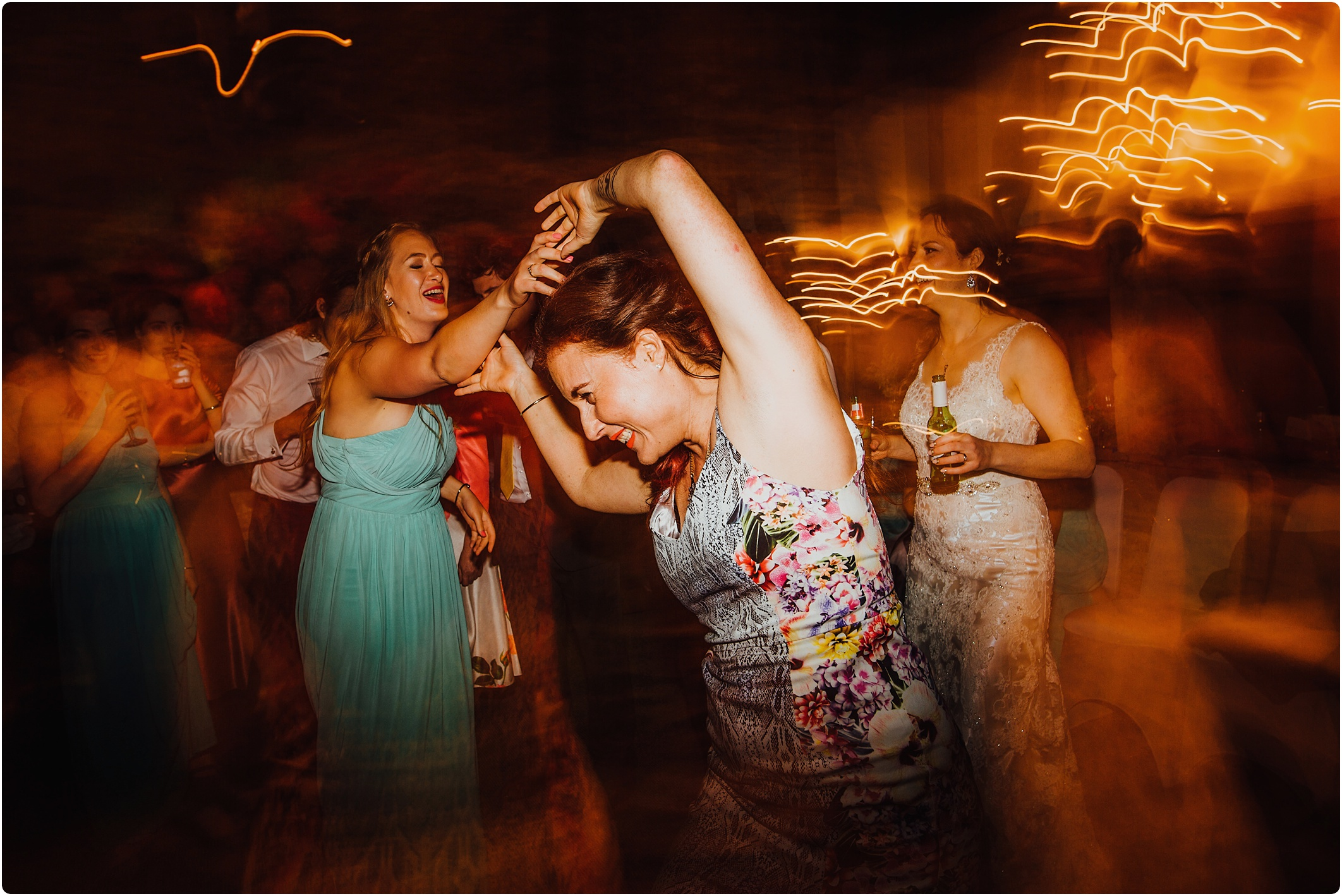 Treadam Barn Wedding night dancing