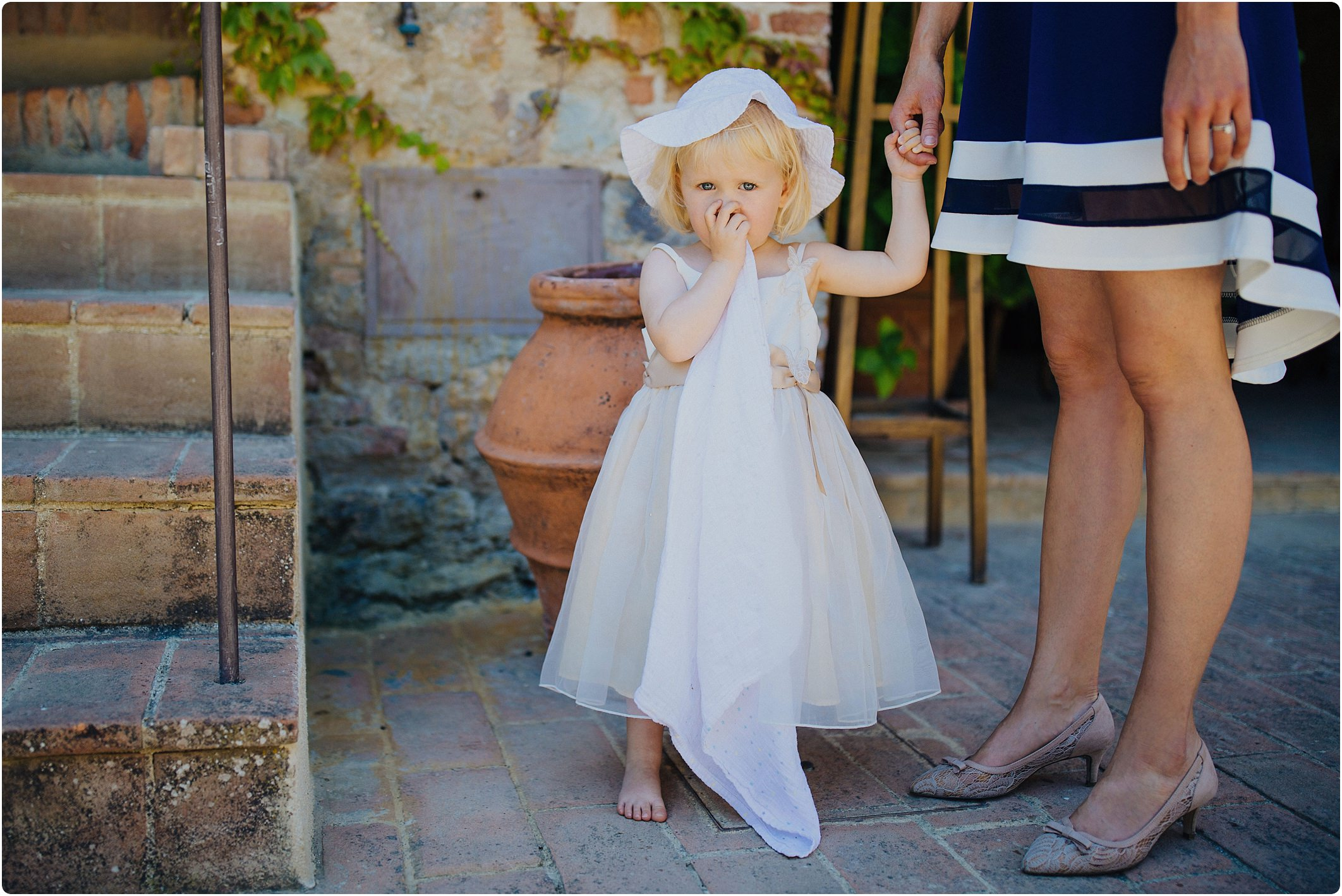 flower girl at a villa podernovo wedding