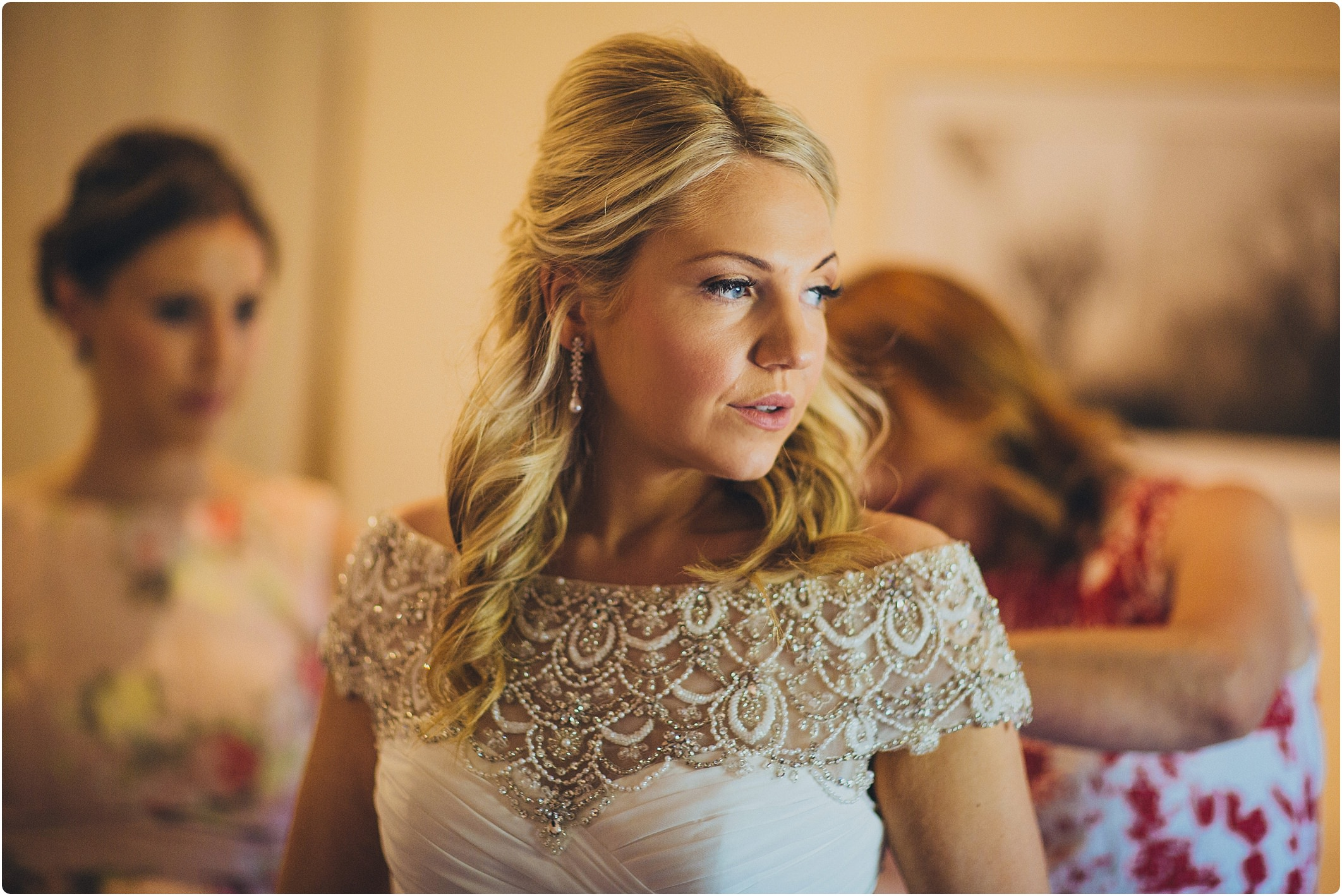nervous bride at a villa podernovo wedding