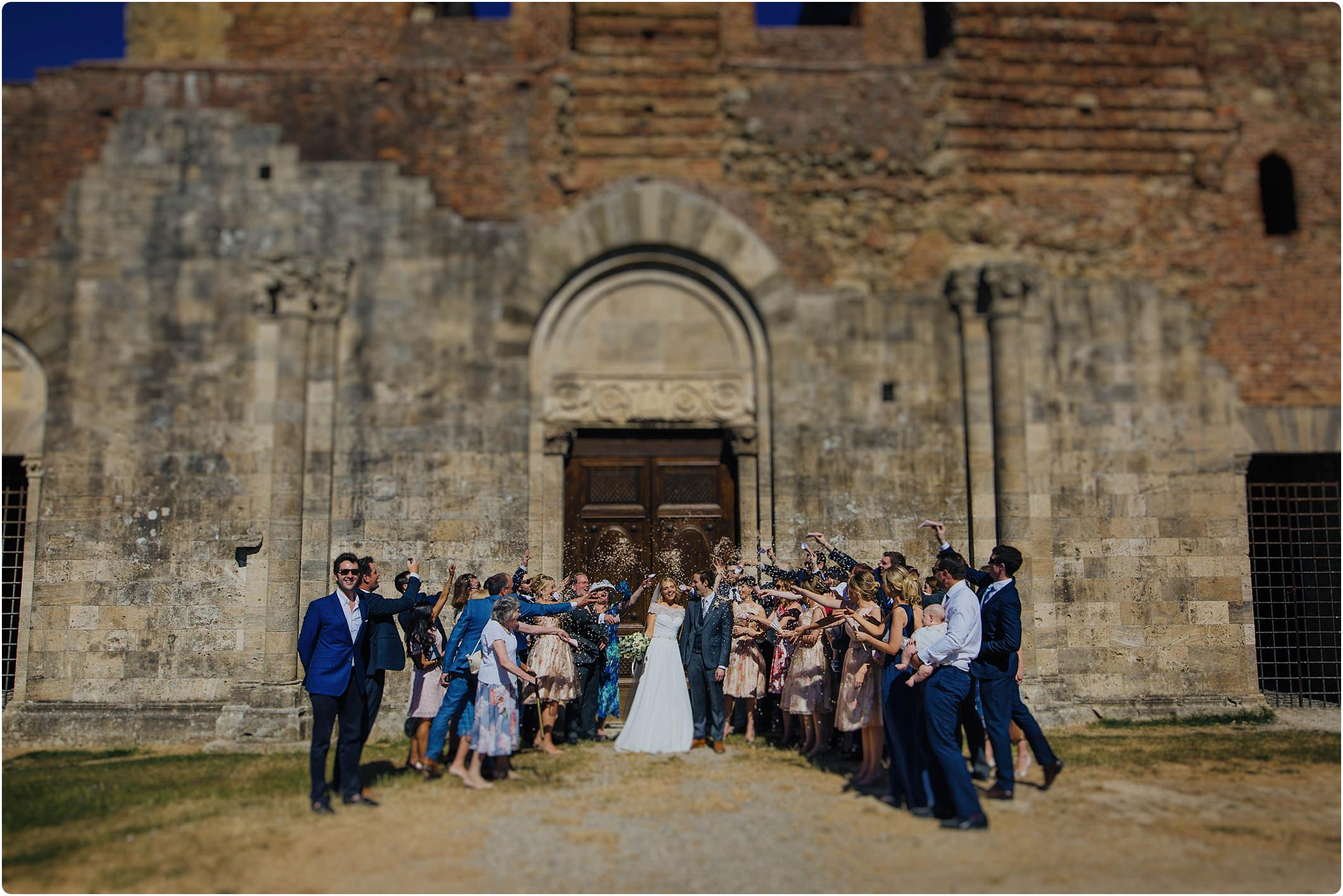 confetti shot at san galgano abbey