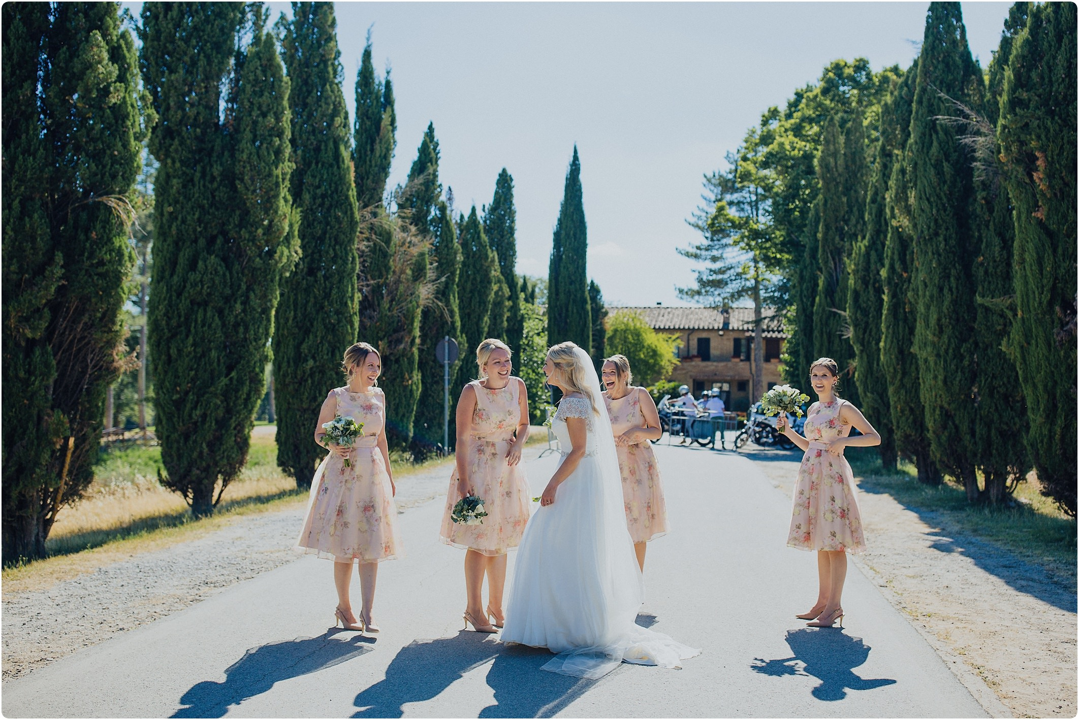 bridesmaids at san galgano abbey