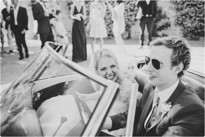 bride laughing at groom at a villa podernovo wedding