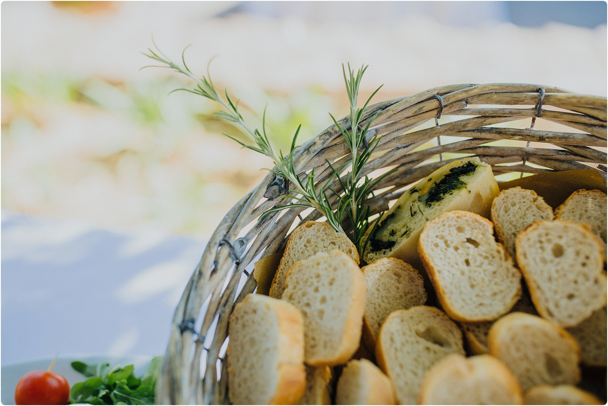 bread and rosemary at a villa podernovo wedding