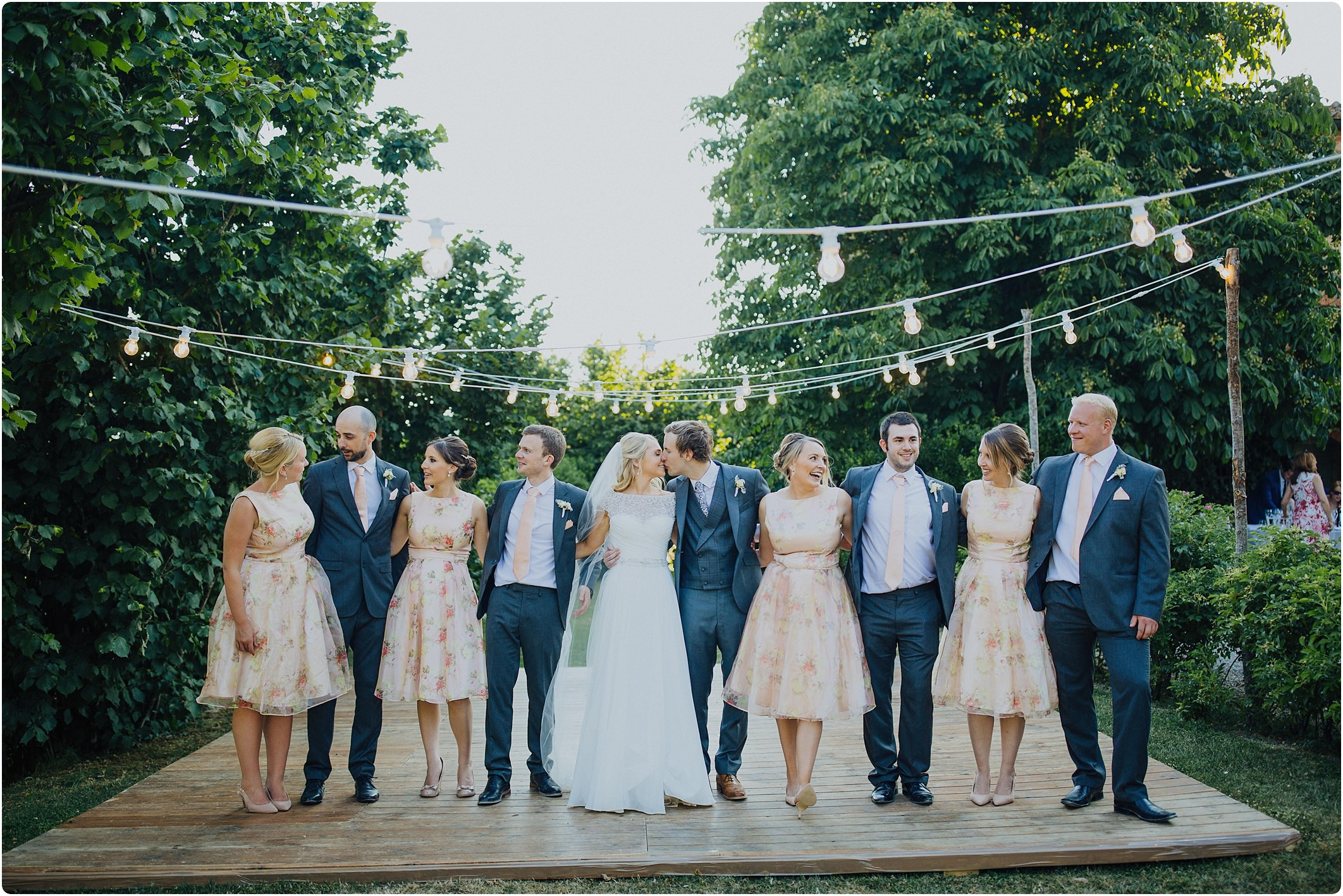 bridal party at a villa podernovo wedding