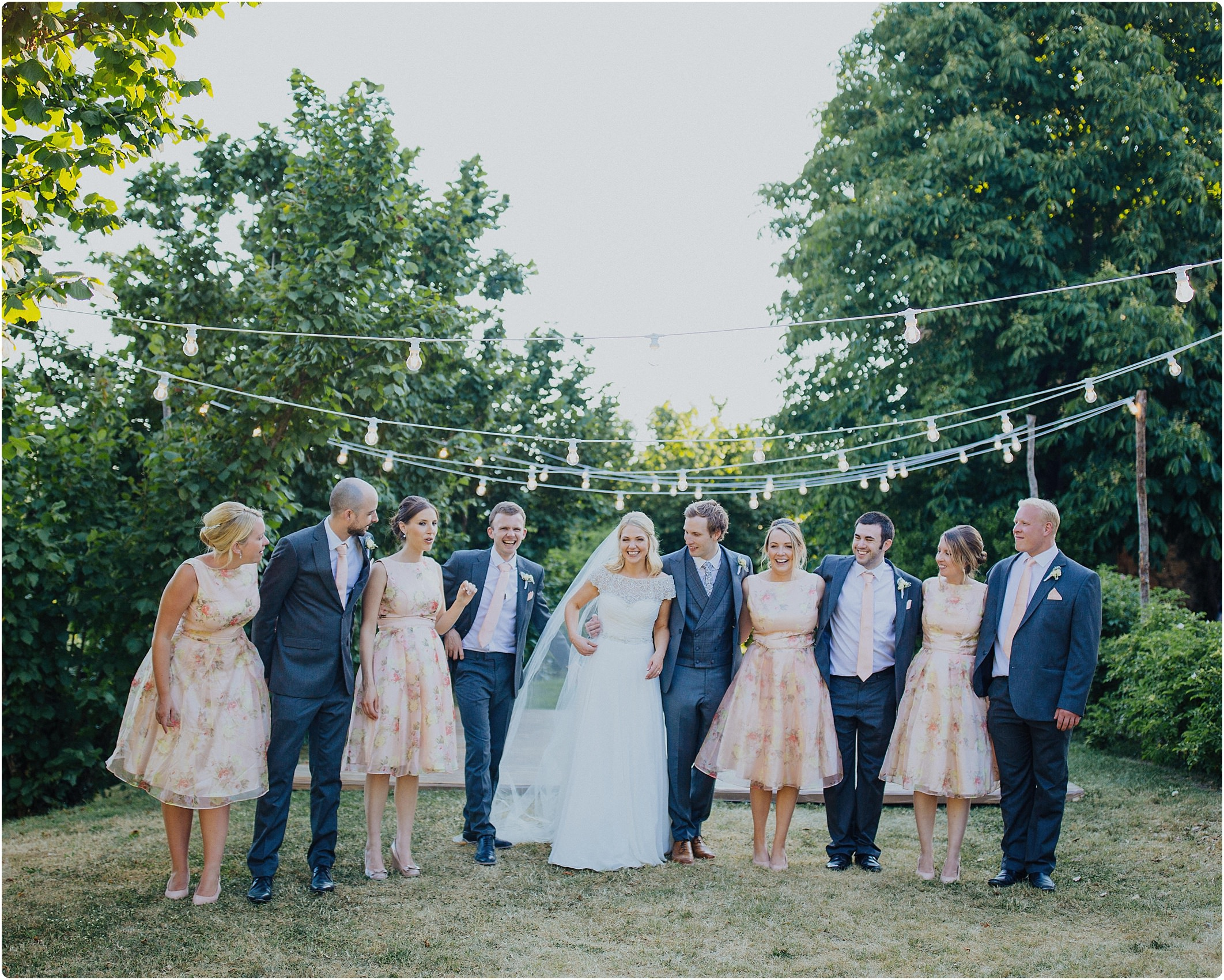 bridal party together at a villa podernovo wedding