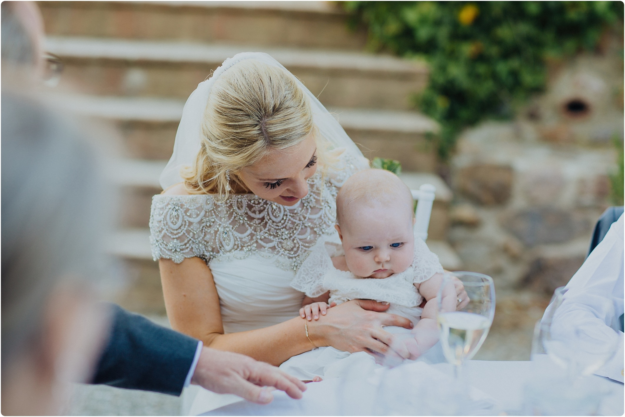 bride and flower girl at a villa podernovo wedding