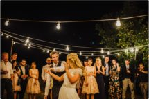 bride and groom first dance at av villa podernovo wedding