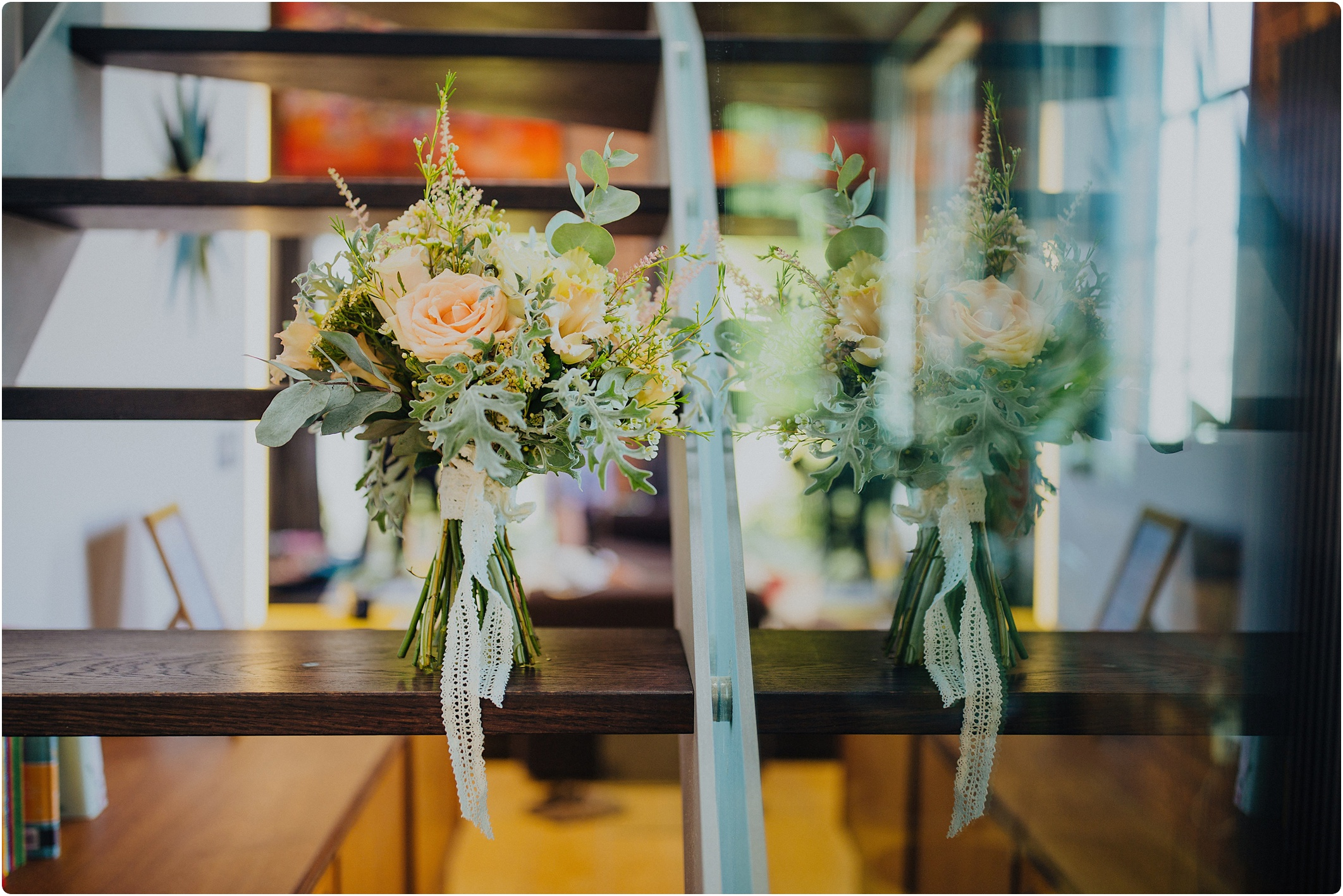 bride bouquet peonies and lace at The Paintworks Wedding