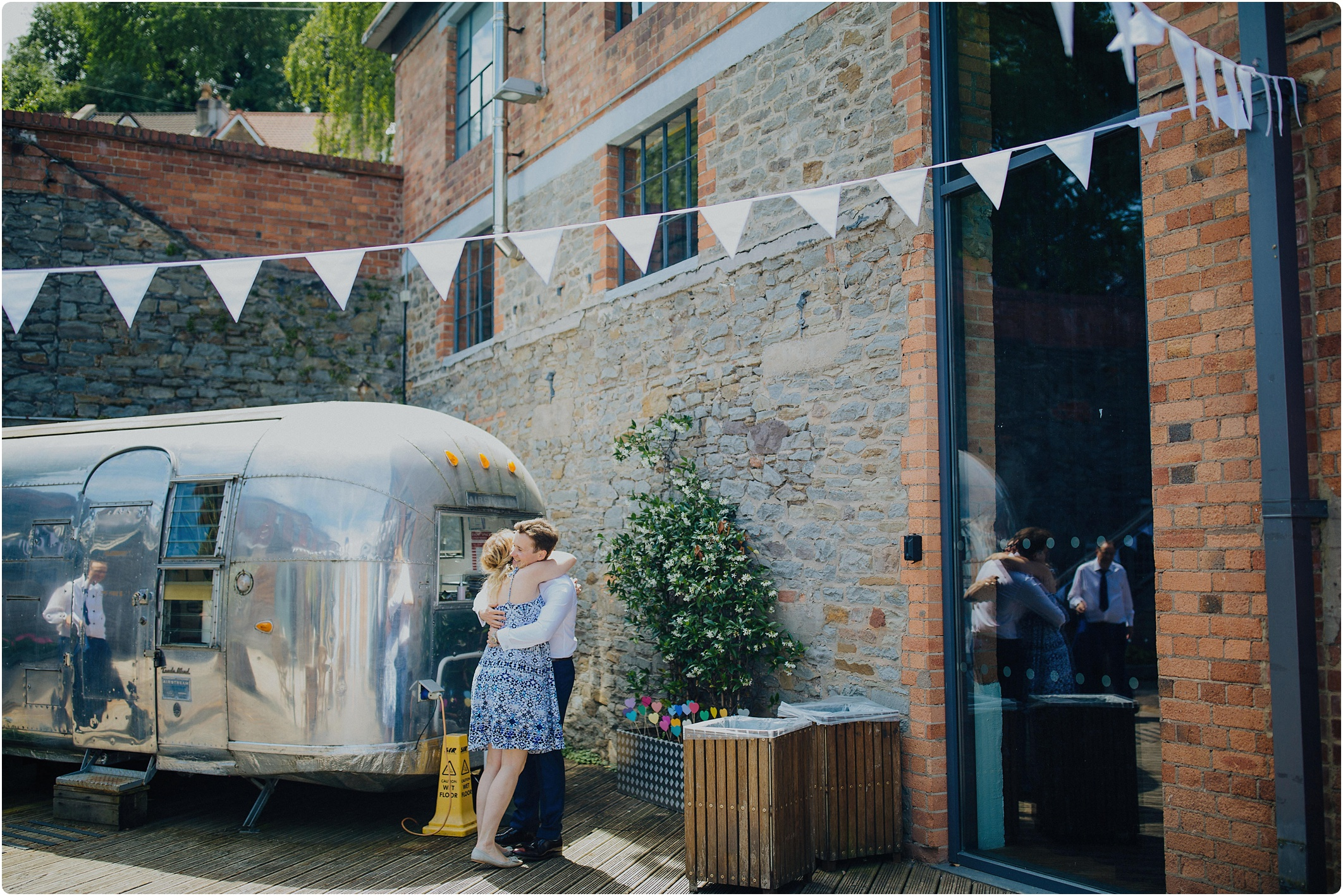 airstream caravan at The Paintworks Wedding
