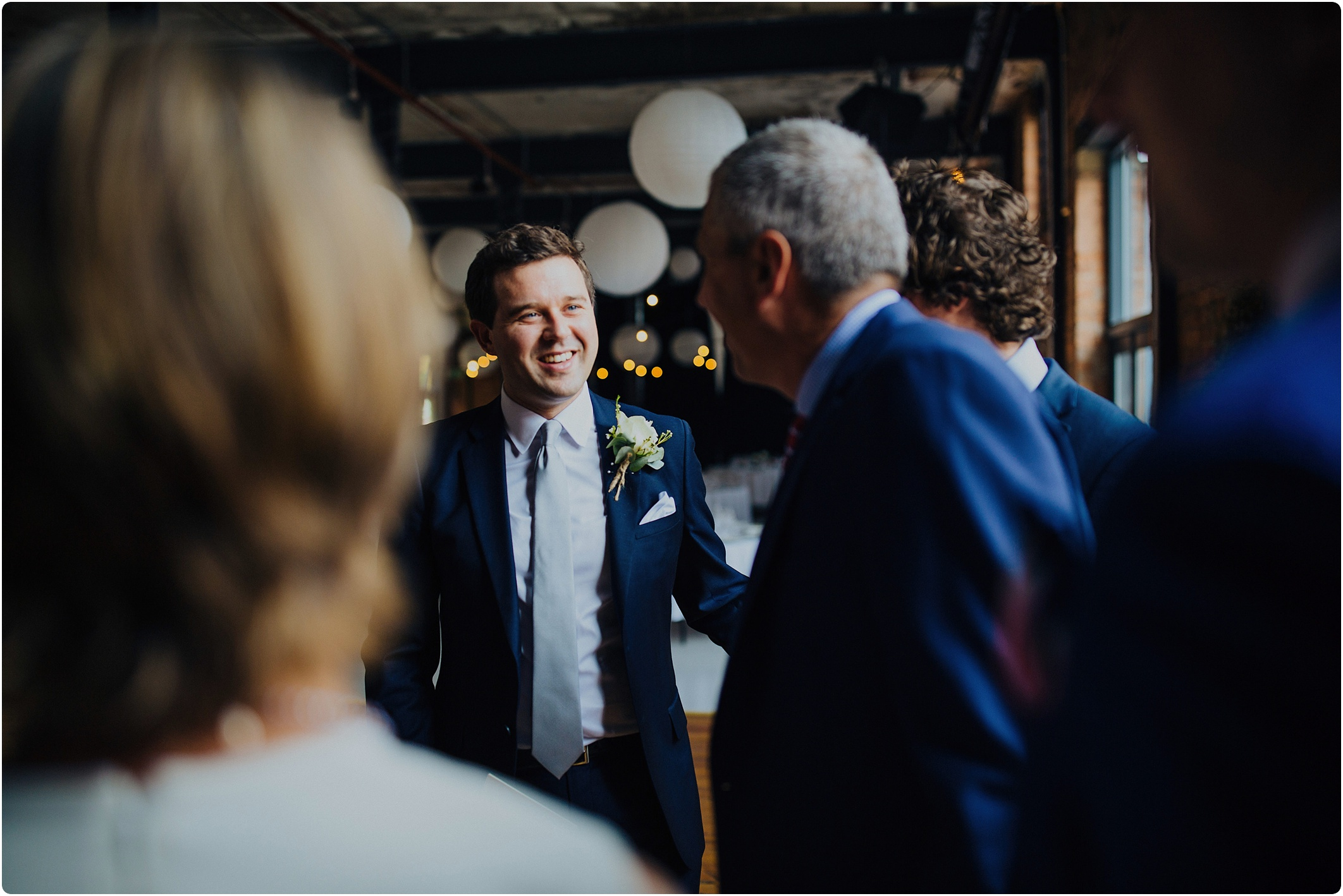 welcoming guests at The Paintworks Wedding