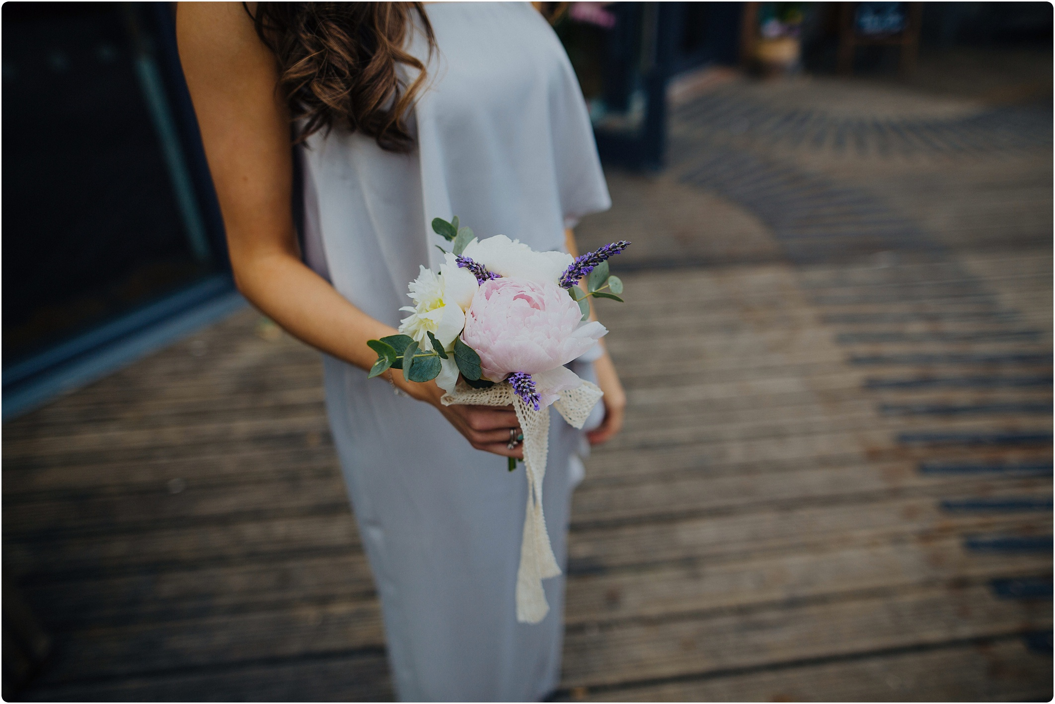 simple peonies bouquet at The Paintworks Wedding