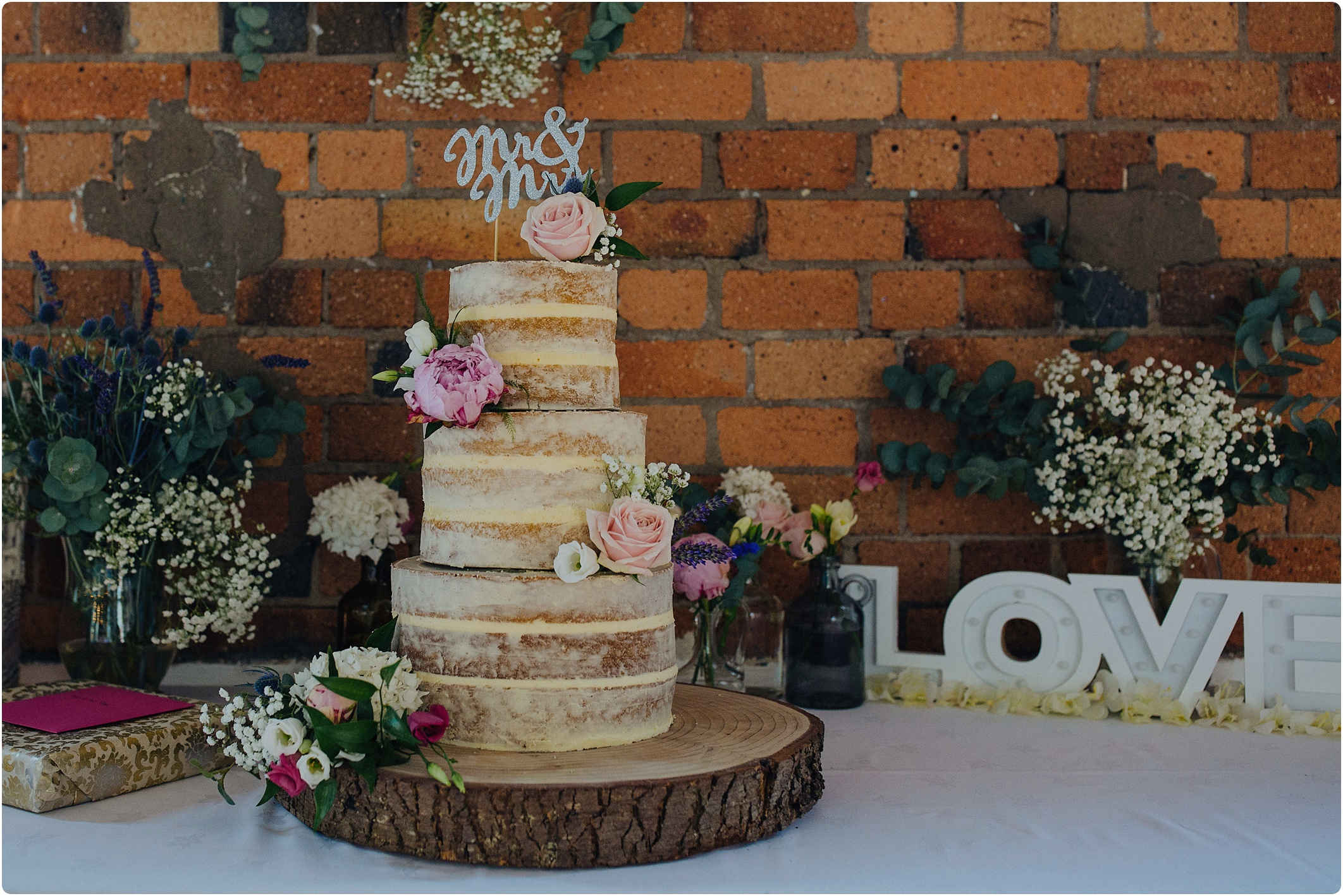 naked cake at The Paintworks Wedding