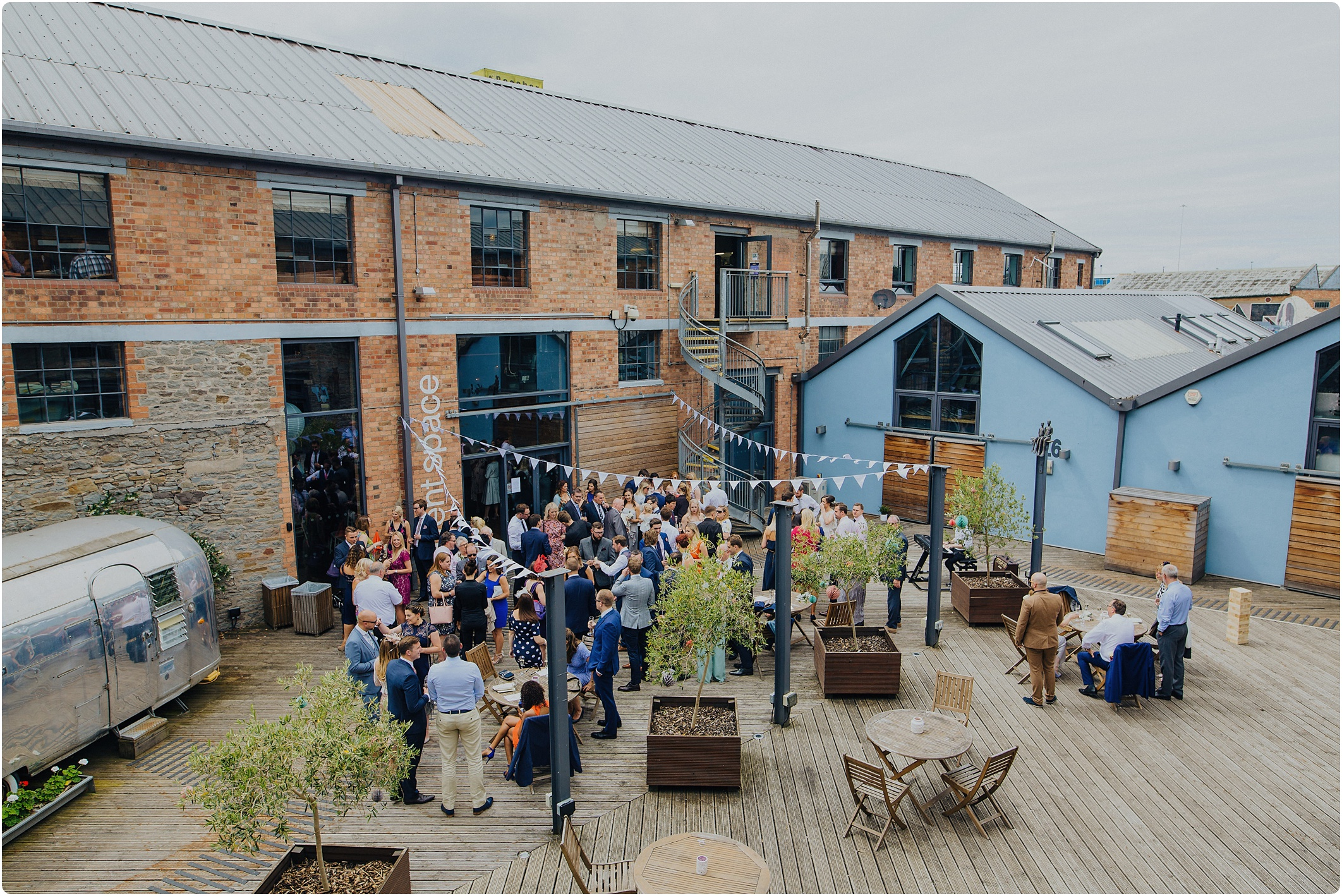 courtyard at The Paintworks Wedding